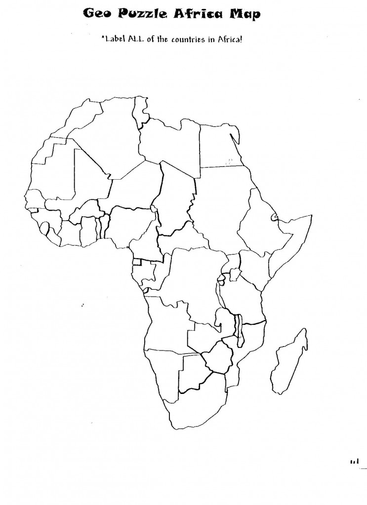 Geopuzzle Africa Map