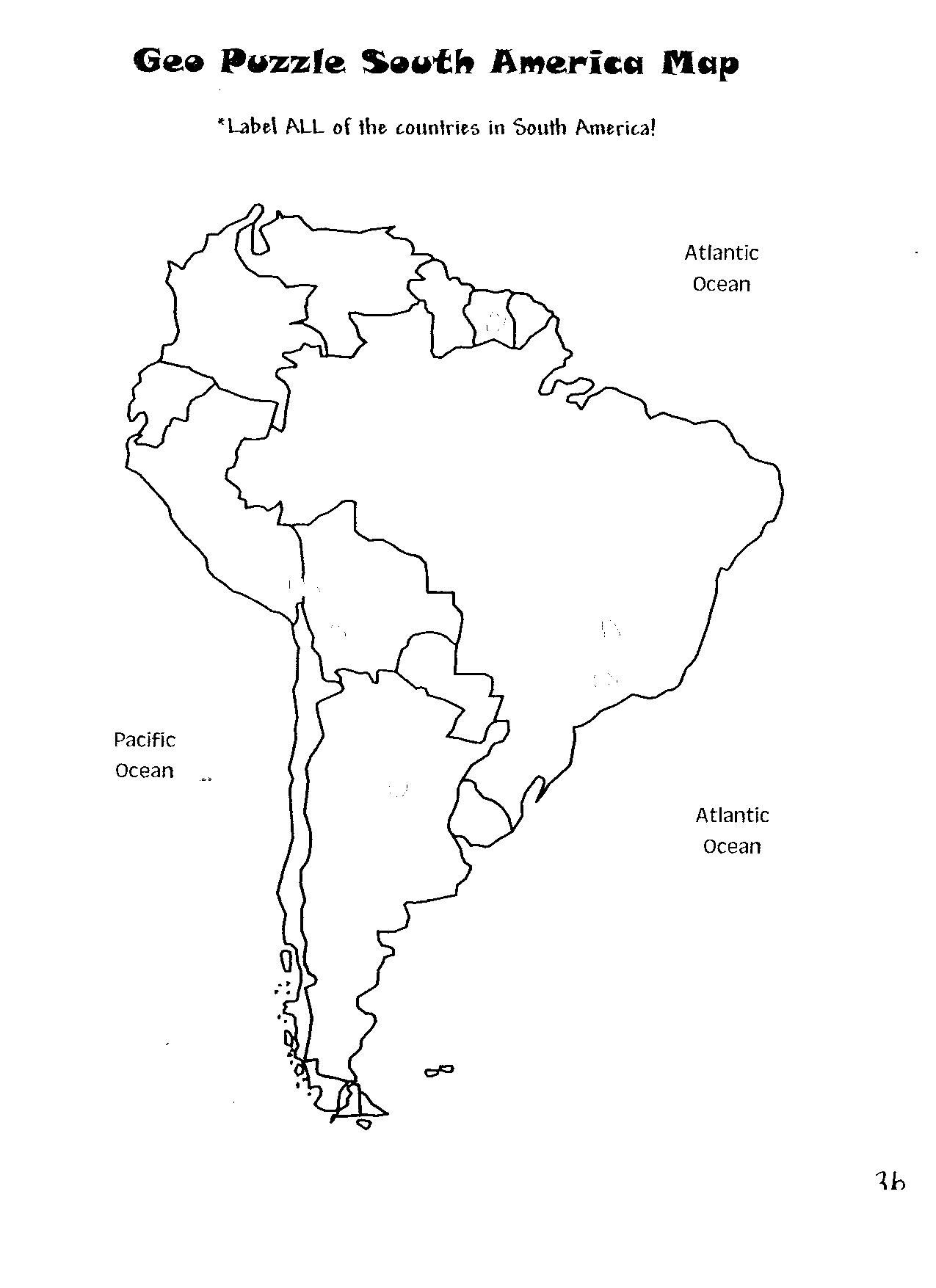 south america map activity 5d Geopuzzle South America Map2 Uc Links Activity Guides