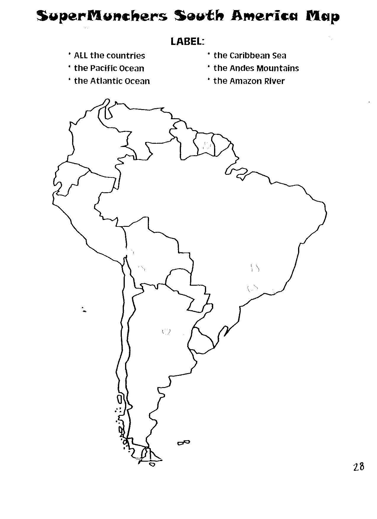 south america map activity 5d Supermunchers South America Map Uc Links Activity Guides