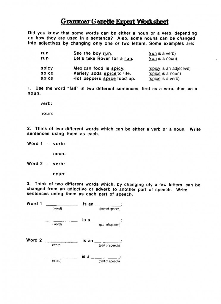 Printables Elementary Grammar Worksheets july 2009 uc links activity guides grammar gazette expert worksheet